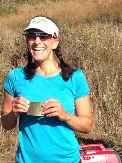 Marcy after completing Marin Headlands 100