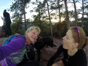 With Scout & Casey B: 1st of 2 PR's up Mt. Sanitas in November